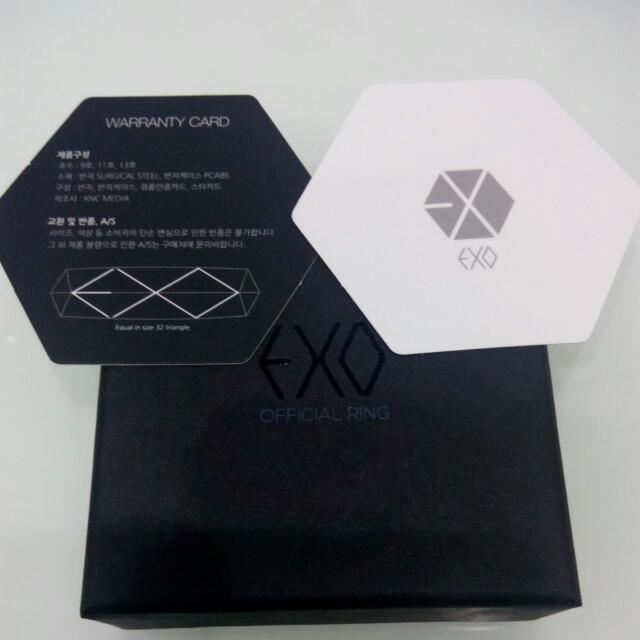 EXO Ring 官方戒指13號