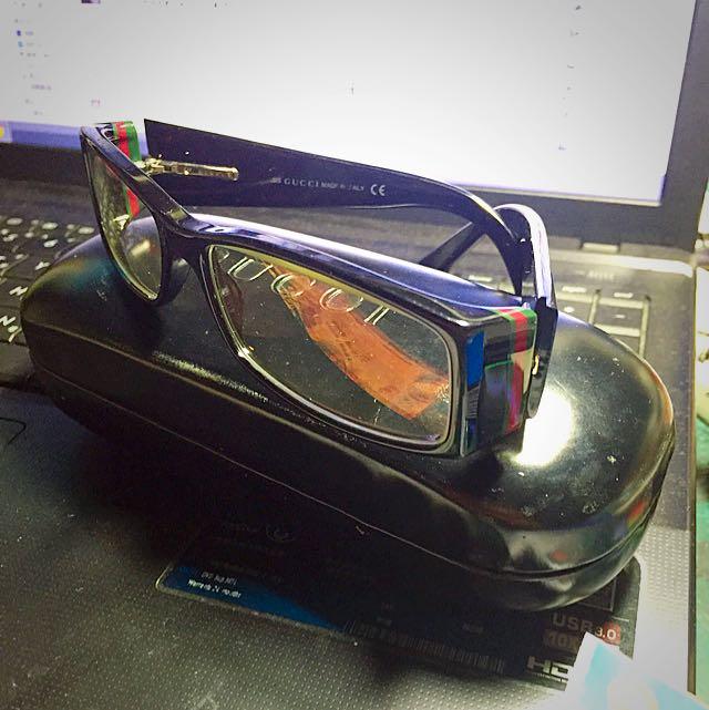 Gucci 眼鏡 鏡框 含 鏡片 鏡盒 意者內談