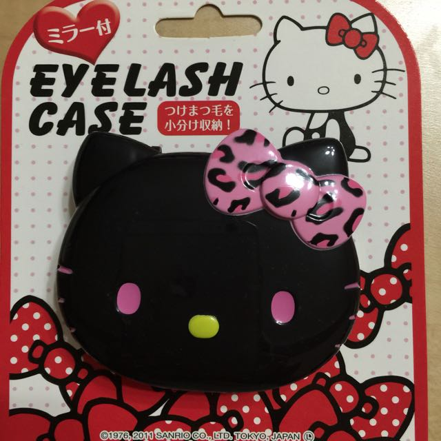 (✔️含運)全新正品Hello Kitty假睫毛/小物/藥品收納盒