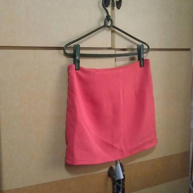 lulus 西瓜紅 西裝裙 西紅  包裙 全新