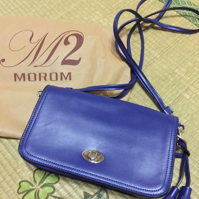 M2 真皮流蘇包 藍紫色