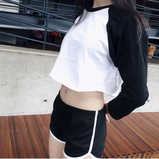 No_Nammme 黑色運動短褲