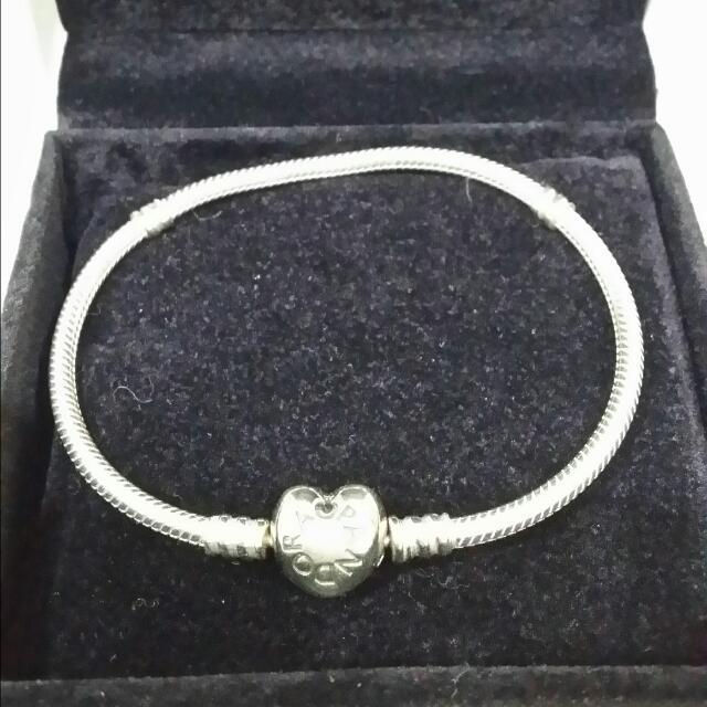 Pandora愛心蛇鏈19cm