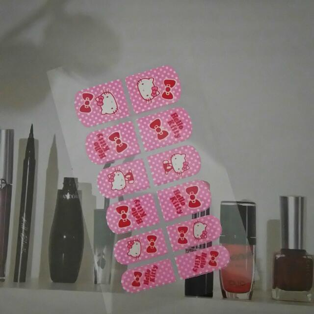 降價!!Sanrio HELLO KITTY彩繪指甲貼片