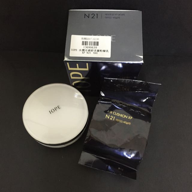 保留🚫(免運)全新✨正品  IOPE 水潤光感 氣墊粉餅 N21