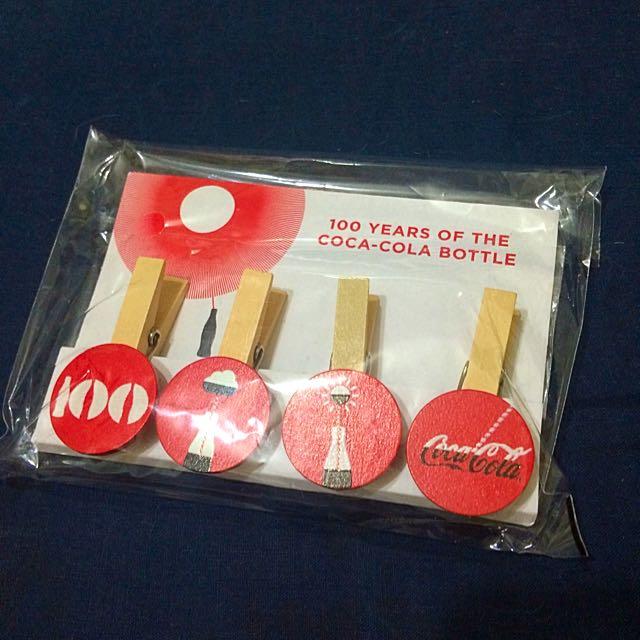(全新)可口可樂100週年原木相片夾