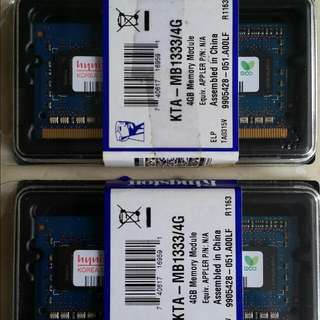 Hynix RAM 2X 2GB.