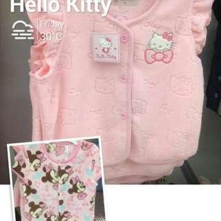 2015 Hello kitty 限定 (還有迪士尼系列) 冬季內裹毛背心 80~100公分