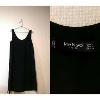 黑色mango素面洋裝