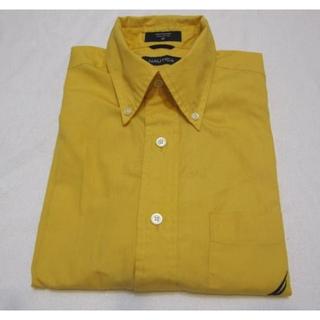 🚚 美國名牌NAUTICA 短袖素面襯衫 尺寸:M