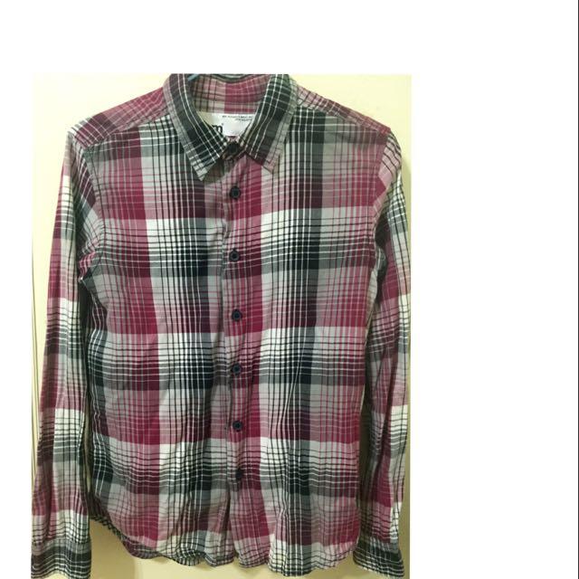 5cm格子復古襯衫/中性/免運