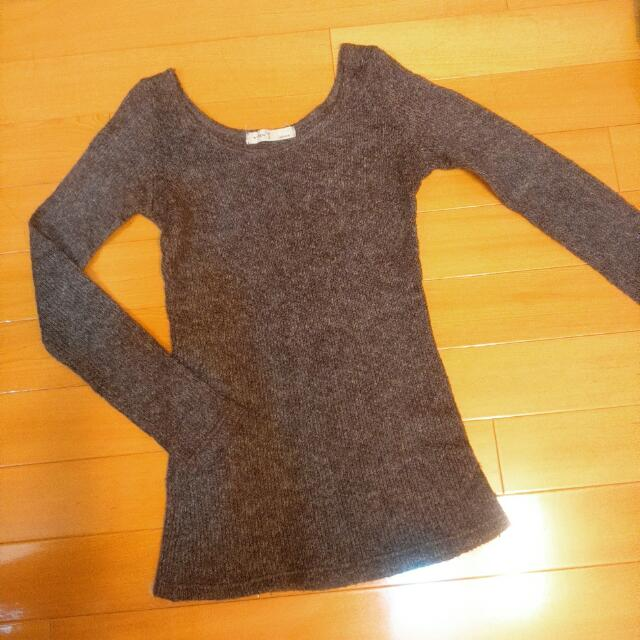 ◆ 降 ↓ 可可色混色毛衣