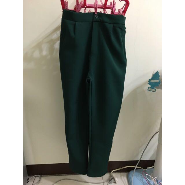 綠色西裝褲