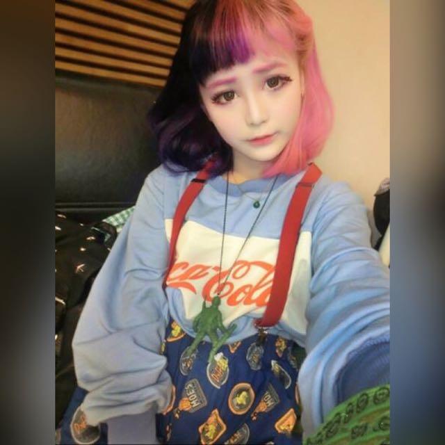 可口可樂日本原宿復古上衣(林碩