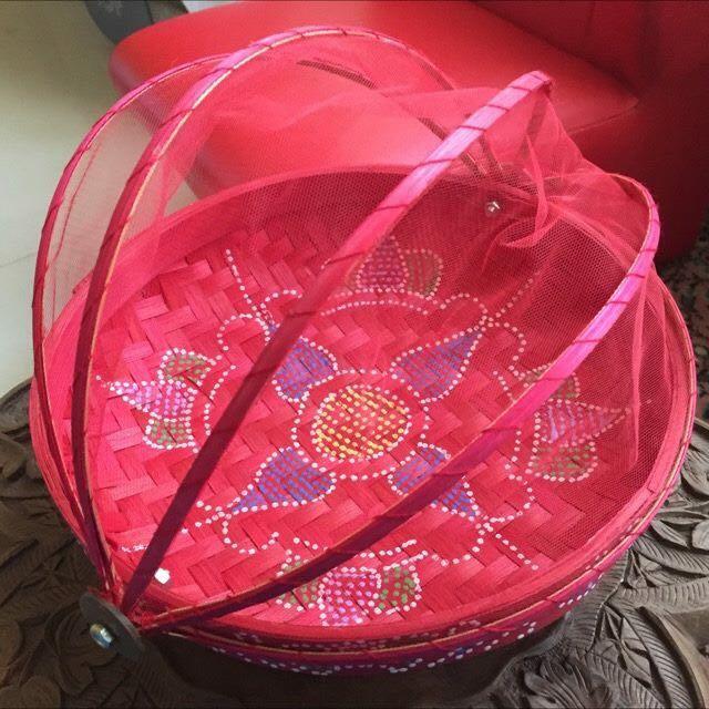 馬來西亞砂勞越土著手工編織籃 (紅色)(咖啡色)