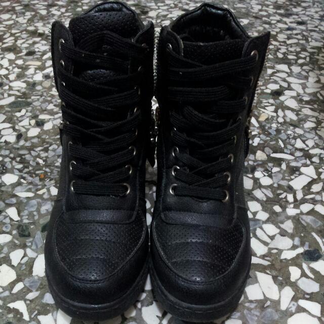 韓版 高統增高球鞋
