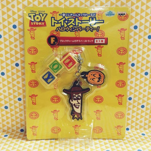 日本限定 一番賞 萬聖節限定 玩具總動員 胡迪 手機吊飾