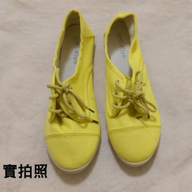 🐼 二手 🐼 休閒帆布鞋 - 黃色