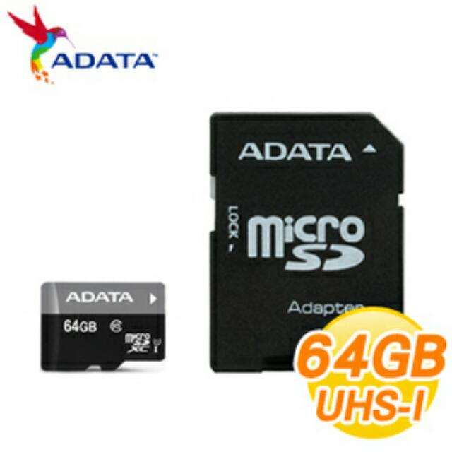 全新品 威剛 T-FLASH 64GB U1 C10