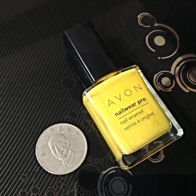 加拿大限定 Avon 黃色指甲油 (N701 ensoleillé)