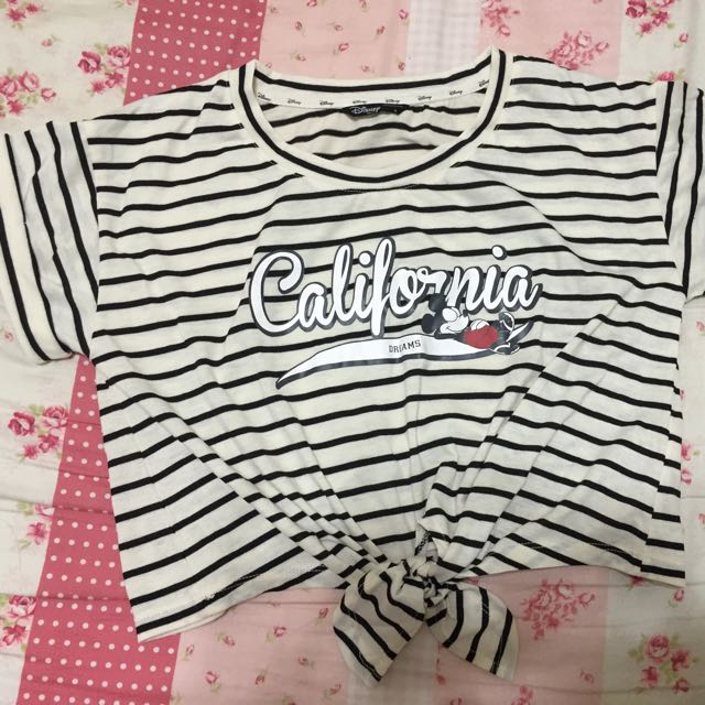 lovfee Disney黑白條紋短版上衣(S)