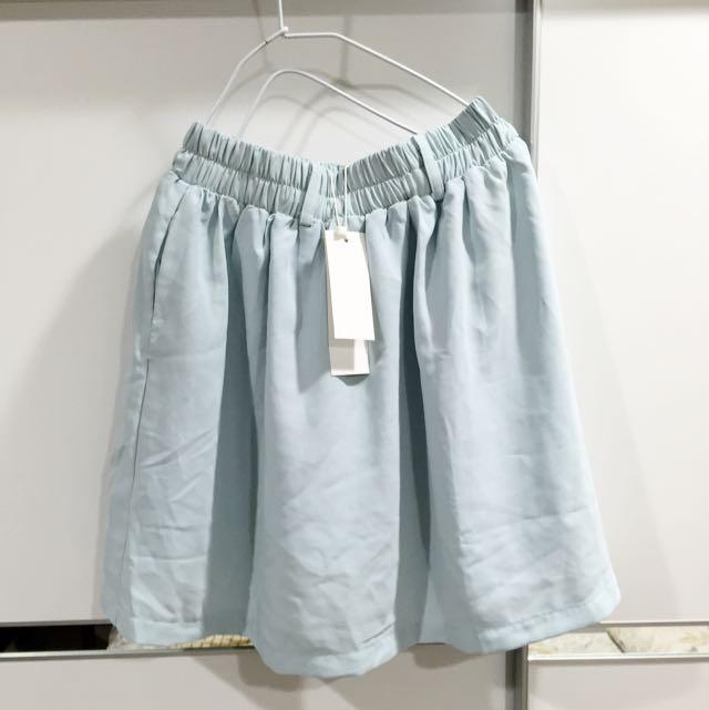Meier.q水藍雪紡紗裙