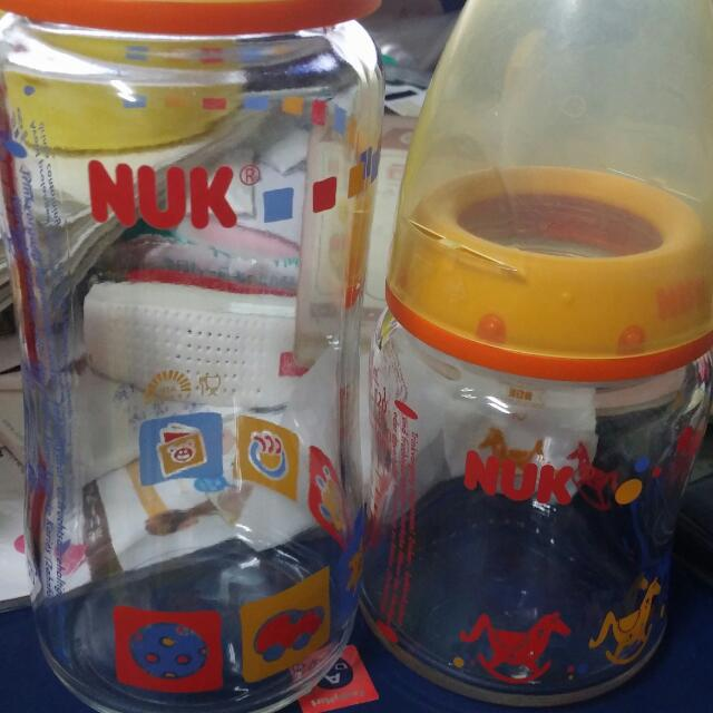NUK玻璃奶瓶 一大一小