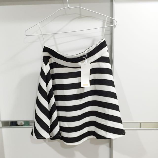 Pazzo黑白條格傘裙