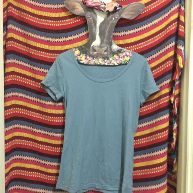 Queen Shop 美麗藍色t恤👚
