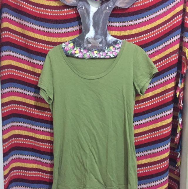 Queen Shop美麗綠色t恤👚