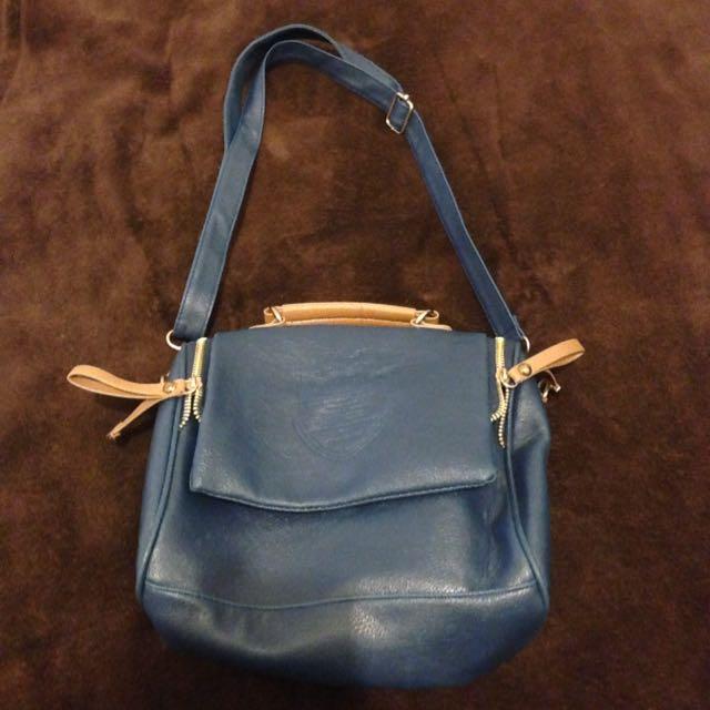 Women's Blue Over The Shoulder Bag