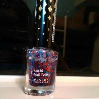 MISSHA晶鑽紅藍馬戲團指甲油