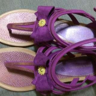 隨便賣!!!紫色橡膠涼鞋