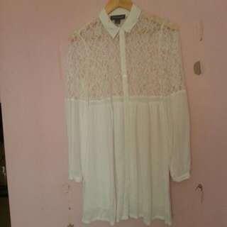 Stylestalker Brand White Lace Dress