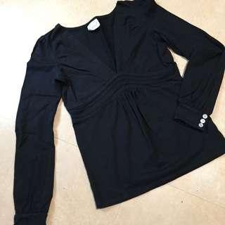 ‼️ 降價 ‼️ V領 黑色 長袖上衣