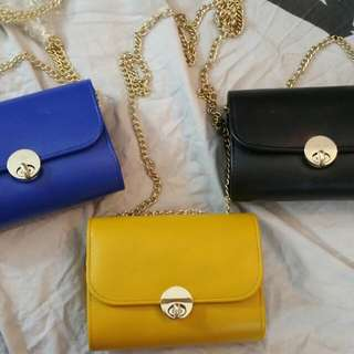 3 Different colour Clutch $5 Each