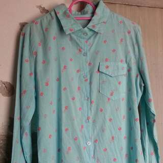 Blue Turquoise Meow Shirt In Size S :)