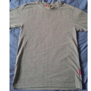 九成新 美國AERO 硬挺厚實 百搭灰色素面短T 小版男裝