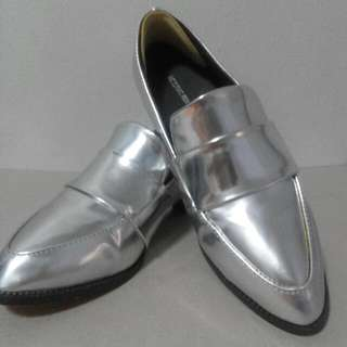 BN Silver Loafers (Size 36)