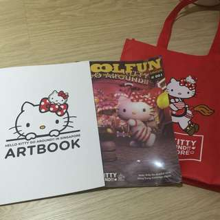 Hello Kitty Go Around 2015 Art Book And Cool Fun Book