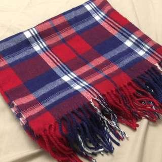 寬版披風式圍巾