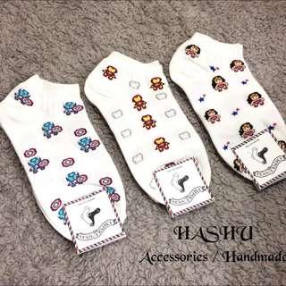 Hashu ⚡️ 韓國空運鋼鐵人超人造型短襪