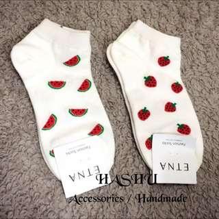 Hashu ⚡️ 韓國空運水果造型短襪