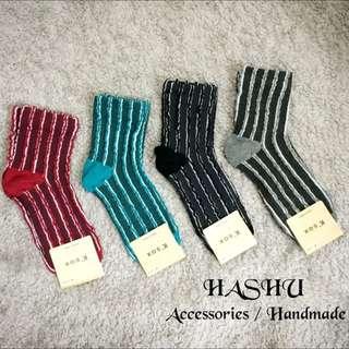 Hashu⚡️韓國空運立體線條造形中筒襪