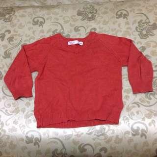 FOX Baby Orange Sweater