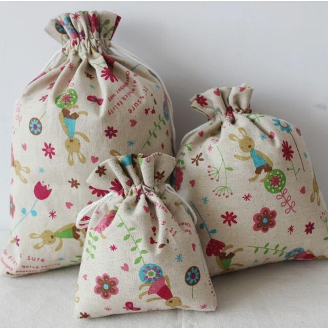 &小號&手工棉麻布袋收納袋束口袋抽繩袋茶葉禮品袋喜糖袋化裝包