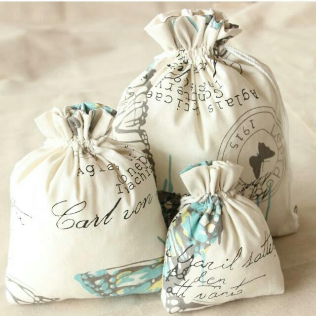 &中號&手工棉麻布袋收納袋束口袋抽繩袋茶葉禮品袋喜糖袋化裝包