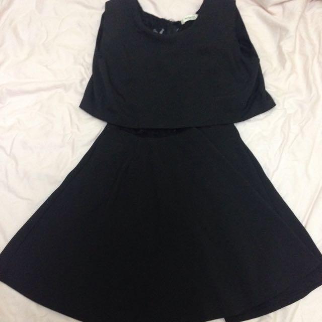 夜店風若隱若現黑色小洋裝