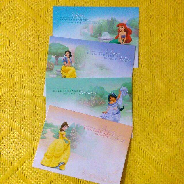 迪士尼公主信封4個(含運)