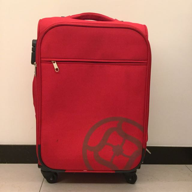 【保留】➰大紅色行李箱(23吋)